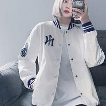 MLBNY棒球服ve5020新se潮牌宽松夹克女oversize情侣运动休闲外套