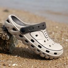 2020冬季新式洞洞鞋男士凉ve11鞋男潮se室外穿凉鞋青年学生