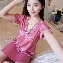 女士睡衣夏季韩版冰丝短袖