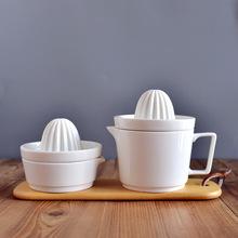 健康环ve陶瓷手动榨vj约纯白无菌易清晰手工榨汁机鲜榨水果器