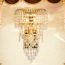 奢华kvi水晶壁灯 ea金色客厅卧室轻奢 欧式电视墙壁灯