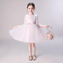 儿童礼服女童生日公主vi7粉色蓬蓬ra礼服钢琴主持走秀演出服