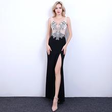 夜总会viTV公关(小)ra服2019新式性感夜店长裙深V领开叉修身礼服