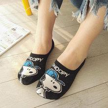 韩国ivis潮卡通插to薄式隐形船袜女夏季硅胶防滑女士浅口袜子