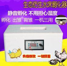 家用浮vi箱鸡蛋全自gh机孵化设备孵化箱(小)鸡(小)型卵化器