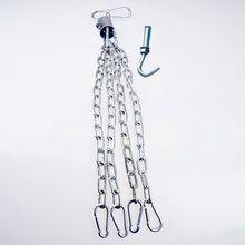 吊式空vi实心拳击沙la散打泰拳旋转器加粗加长铁链安全扣配件