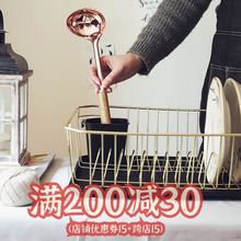 出口日vi北欧木铁碗la架厨房置物架收纳盘子沥晾洗滤放碗筷盒