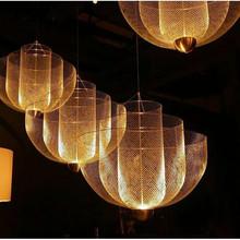 意大利vi计师金属网ni轻奢时尚客厅餐厅卧室别墅复式楼大吊灯