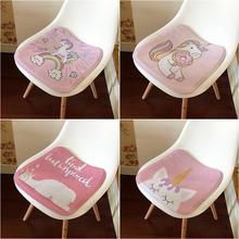 卡通粉vi独角兽坐垫le凳子座椅垫子宝宝学生办公转椅垫幼儿园