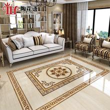 欧式客vi拼花瓷砖 an门地毯砖 走廊过道地面砖餐厅抛晶地板砖