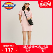 DicviiesLOri花短袖连衣裙 女式夏季新品休闲棉T恤裙子DK007392