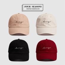 [vivia]韩国复古软顶酒红色棒球帽