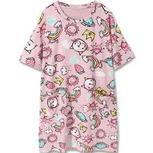 元气少vi!(小)红书推ia草莓猫咪可爱宽松睡衣短袖棉质睡裙女夏季