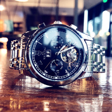 201vj新式潮流时ez动机械表手表男士夜光防水镂空个性学生腕表