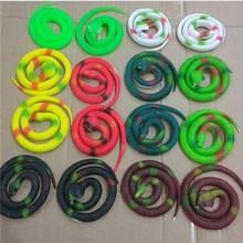 蛇玩具vj童玩具蛇仿qh橡胶软蛇 恐怖吓的玩具愚的节礼物