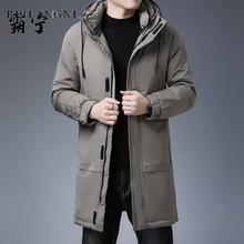 四五十岁中年穿的衣服男的vn9季羽绒4ma5棉袄40岁50爸爸35年轻