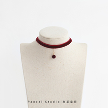 韩国丝vn植绒珍珠coser颈链短式锁骨链简约百搭脖子饰品颈带项链
