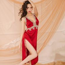 性感睡vn女夏季吊带ow裙透明薄式情趣火辣春秋两件套内衣诱惑