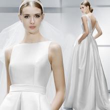 202vo新式 新娘xi修身简约韩款绑带公主裙齐地蓬蓬纱