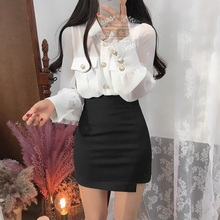 黑色短vo2019新ey职业休闲裙OL女装半身裙 弹力一步裙包臀裙