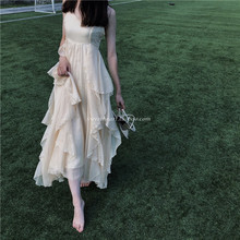 【Swvoetheado爱丽丝梦游仙境 大裙摆超重工大摆吊带连衣裙长裙