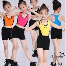 男女宝宝健美操服装(小)学生广播vo11操表演do演出比赛健身服