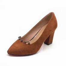 巨日女鞋vo1季新款单ag头磨砂绒面时尚简约流行高跟鞋730121
