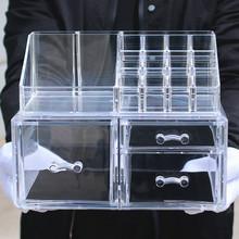 透明化妆品收纳盒梳妆台抽