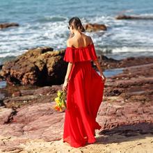 [vqhu]红色沙滩长裙 沙漠拍照服