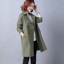 202vq新式妈妈春oq风衣女中长式大码中年女士气质减龄休闲外套