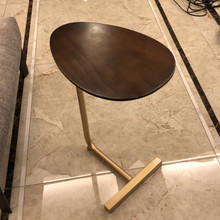创意简vqc型(小) 移yc实木沙发角几边几 懒的床头阅读边桌