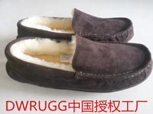 DWRvuGG男士特gn冬保暖皮毛一体豆豆鞋加绒棉鞋懒的澳洲羊毛鞋