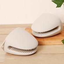 日本隔vu手套加厚微qj箱防滑厨房烘培耐高温防烫硅胶套2只装