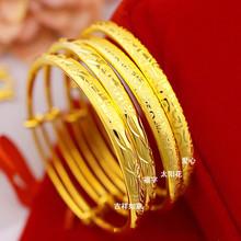 黄金手vw9999足nb24K金手链女新式实心时尚不掉色正品送戒指