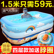 加厚儿vz游泳池家用qj幼儿家庭充气泳池超大号(小)孩洗澡戏水桶