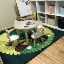 卡通公wa宝宝爬行垫la室床边毯幼儿园益智毯可水洗