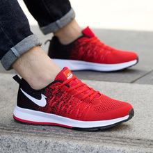 37(小)wa男鞋夏季式ga动休闲鞋蓝色黑红色45码透气网面学生跑鞋