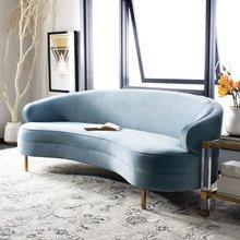 美式布wa圆弧形北欧ga代简约绒布客厅商铺设计师网红创意沙发