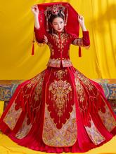 秀禾服wa020新式ga瘦女新娘中式礼服婚纱凤冠霞帔龙凤褂秀和服