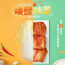 韩国辣wa菜正宗泡菜ke鲜延边族(小)咸菜下饭菜450g*3袋