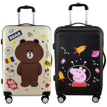 涂鸦卡wa行李箱万向ls可爱大(小)学生宝宝男女拉杆旅行箱(小)清新