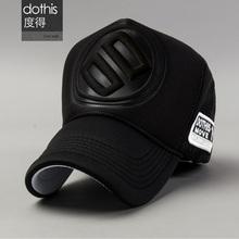 帽子男wa冬季韩款潮ls网帽时尚棒球帽百搭货车帽潮牌鸭舌帽黑