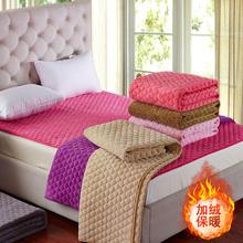法兰绒wa垫褥子双的tem床榻榻米垫子垫被珊瑚绒加厚1.2米1.5