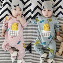 春夏款新生婴幼儿童连体哈衣男女wa12宝纯棉cq0-3-6-9个月
