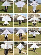 自制包wadiy手工qi白色填色布袋新式微风白底