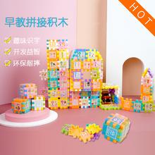 幼宝宝wa教塑料积木nk-6周岁男女孩益智宝宝1-3岁拼装插创意园