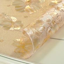 定制时尚简约透明水晶板餐桌垫软wa12璃pver耐高温防烫防水