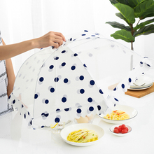 家用大wa饭桌盖菜罩er网纱可折叠防尘防蚊饭菜餐桌子食物罩子
