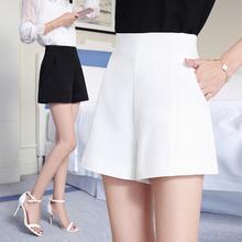 高腰awa阔腿短裤女er020新韩款宽松显瘦白色休闲西装短裤学生