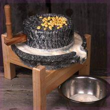 旋转专wa单个8公斤ap5CM磨粉家用石磨盘手动(小)型面粉复